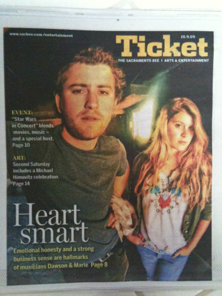 Drew and Marlana on the Cover of the Ticket Section!
