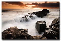 GOLDEN SUNRISE (Steve Boote..) Tags: longexposure sea england seascape sunrise dawn coast rocks waves northumberland northumbria coastline northeast blackhole gitzo craster sigma1020 leefilters samsunggx20 koodfilters steveboote