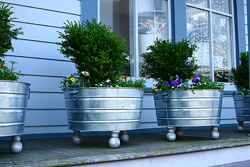 Galvanized WashTubs In My Cottage Garden