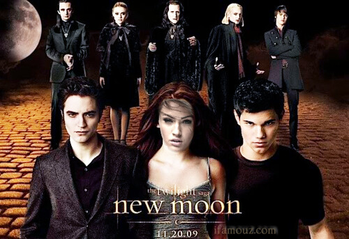 robert pattinson new moon poster. new moon movie twilight
