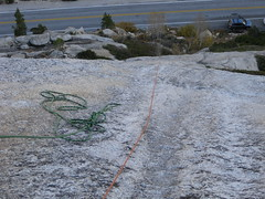 Rapping off (rhyang) Tags: yosemitenationalpark sierranevada rockclimbing tuolumnemeadows