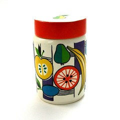1962 ceramic fruit jar (Wooden donkey) Tags: porcelain vintage1960s