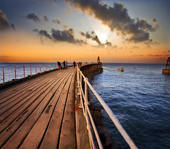 Whitby Pier : SRC (Tom Stamp | Photography) Tags: sunset sea sky clouds landscape pier dramatic explore whitby frontpage flickrblog hdr artie whitbypier leadinlines abigfave platinumphoto flickrdiamond canoneos40d theunforgettablepictures tom3991 tomstamp