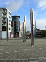 Inspiring (vw4y) Tags: nanowrimo urban cinema tower glass swansea wales landscape steel dream surreal nightmare inspirational pillars vue inspiring urbanlandscape squaringthecircle unlikely spaceage modernistic thoughtprovoking futureistic nearthecasino