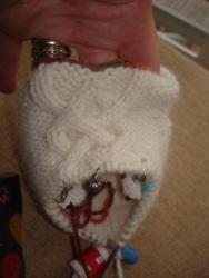 Angora sock front