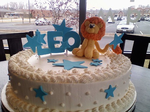 Whipt Cream Lion Birthday Cake