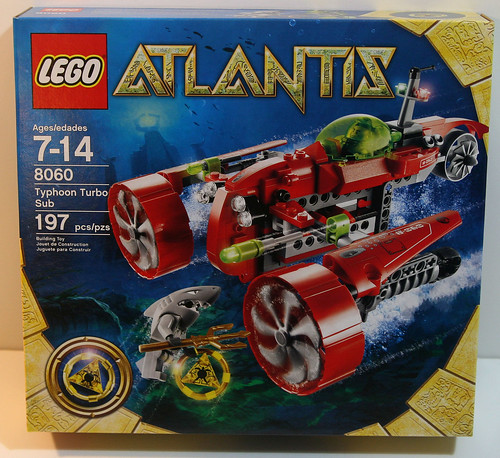LEGO 8060 Atlantis - Typhoon Turbo Sub - Box Front