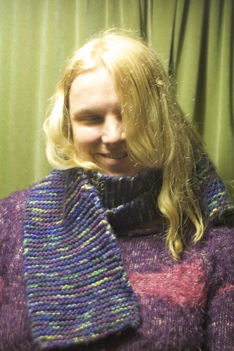 Finished Scarf (and Yours Truly)