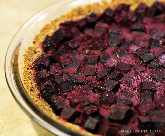 Creamy Sweet Beet Pie with Hazelnut Crust