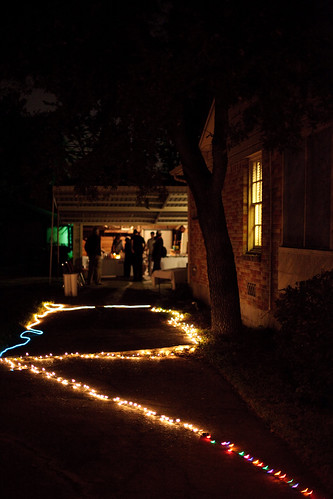 The driveway lit up by David Cisneros