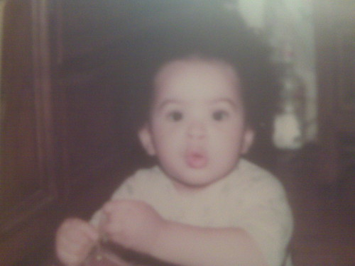 Tiffany b brown tries to compete with me in cute baby fro pics