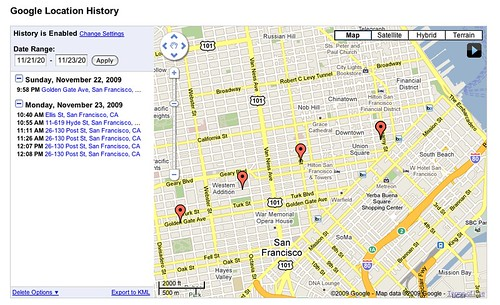 Google Latitude Location Tracking