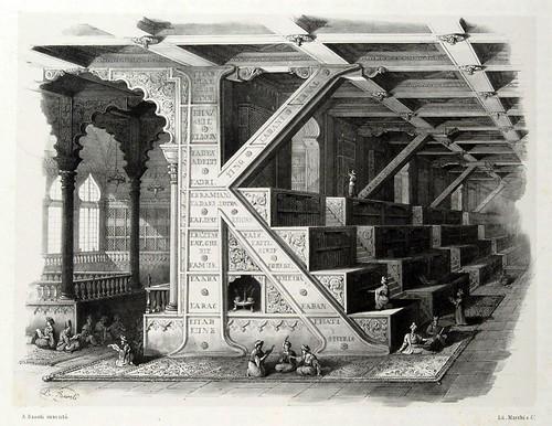 010-Letra K-Alfabeto pittorico- Antonio Basoli 1839-© Accademia di Belle Arti di Bologna