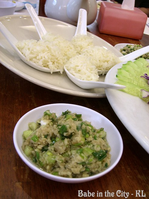 Xinjiang Rice with Steamed Chicken Ginger and Spring Onions Dip