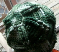 Green Ribs and Ridges Crochet hat <br> Cyber Monday deal and Free shipping!
