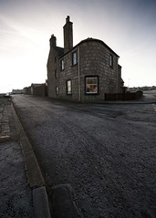 Frosty road to the house (Dimitar Nechev) Tags: frost road house 10mm wideangle lossiemouth scotland morning winter