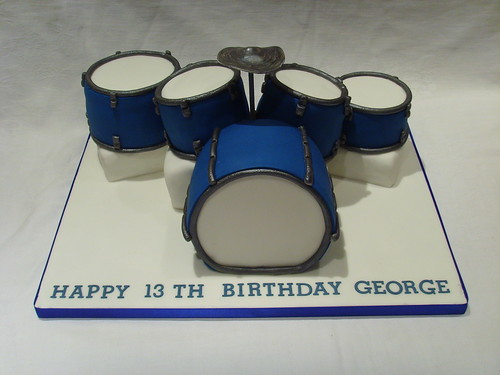 Groovy Drum Set Birthday Cake A Photo On Flickriver Funny Birthday Cards Online Bapapcheapnameinfo