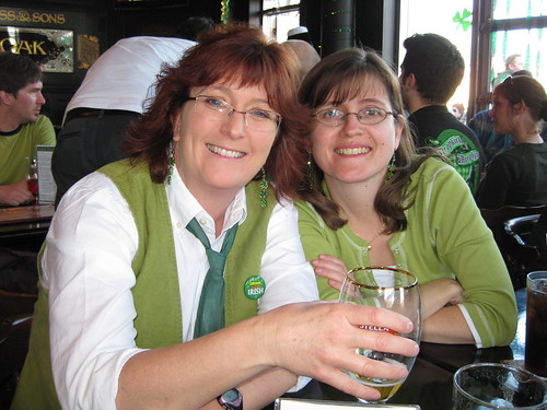 Rhonda and Paula on St. Paddy's Day