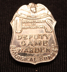 REALLY old Deputy Game Warden badge (The 'K' Man) Tags: fish game sport us office marine general bureau wildlife air police social security special deputy national ii service agent law enforcement agriculture badges warden marshal administration survey federal patches department immigration noaa biological inspector usda naturalization fisheries nmfs fereal usins ssaoig inspectir
