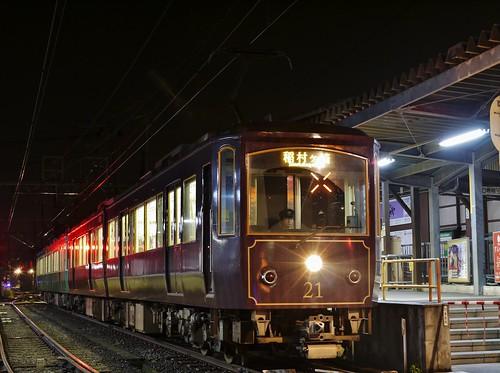 江ノ電21F+22F稲村ヶ崎行き最終電車@長谷