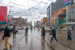 Crosswalk (A Great Capture) Tags: city winter clouds space cityscape world downtown chinatown canada snowing ontario urbanscape eos digital dslr lens canon 70d agreatcapture agc wwwagreatcapturecom adjm ash2276 ashleylduffus ald mobilejay jamesmitchell toronto on canadian photographer northamerica torontoexplore l'hiver 2017 reflection mirror glass wet outdoor outdoors vibrant colorful cheerful vivid bright depthoffield dof streetphotography streetscape street calle overcast cloudy scenery scenic sky himmel colours colors colourful people person couple couples traffic crossing crosswalk white