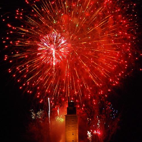 Torre de Hércules 2009 Patrimonio da Humanidade 16Fogos artificiais.JPG