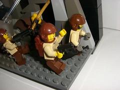 BBVC : WW2 Americans vs Ninjas (closeup2) (Mr A.S.A) Tags: world 2 war lego ninja contest battle scene ww2 americans vs ninjas vignette bbvc brickarms