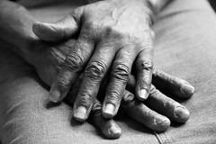 Wisdom (geralddean) Tags: grandma blackandwhite black window monochrome hands naturallight wisdom