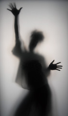 Valeria shadow (manuel ek) Tags: shadow portrait woman abstract glass girl silhouette lady female pose studio model hands artist ghost backlit frosted flickrsbest anawesomeshot