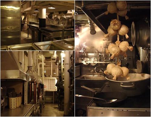 U.S Navy battleship and submarine kitchens