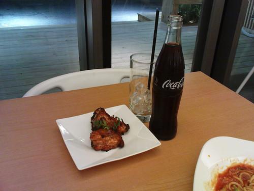 烤雞塊+可口可樂
