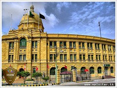 To reach a port we must sail, sometimes with the wind, and sometimes against it. But we must not drift or lie at anchor ! Karachi Port Trust  Building  :: HDR (Xploiтєя ™) Tags: world city travel blue friends pakistan light sea summer vacation sky copyright holiday black eye art love me beautiful festival photoshop geotagged fun photography gold idea golden nikon asia king heart you © captured passion karachi hdr kpt atif karachiporttrust abigfave anawesomeshot thesuperbmasterpiece xploiter karachiporttrustbuilding nikoncorperation