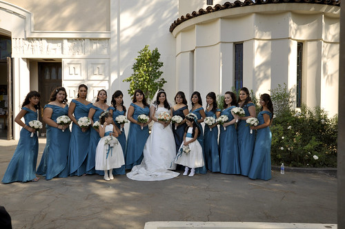 Bridesmaid line-up