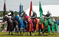 Knights Forming Up (Chris Turner Photography) Tags: show horses medieval surrey historic knights knight armour jousting reenactor agricultural lances chertsey