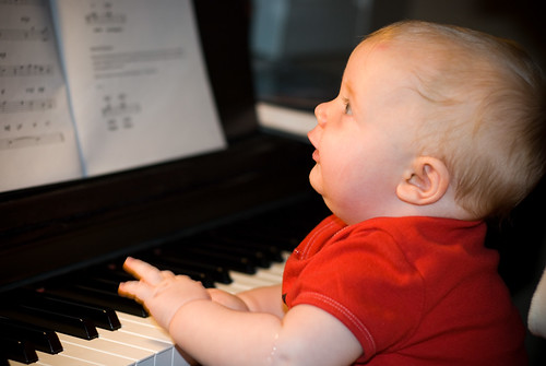 finn playing the piano