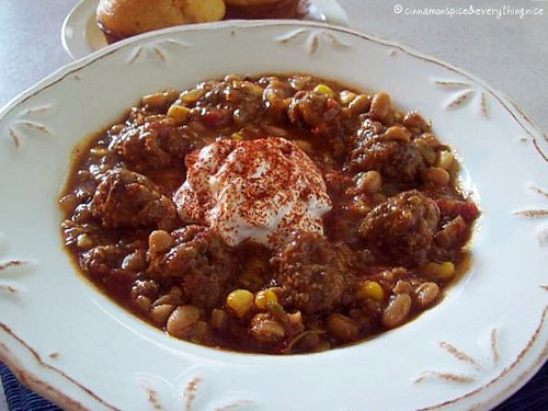 Chipotle Meatball Chili