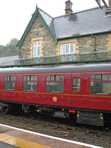 Old carriages waiting at Machynlleth