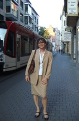 beige suit (Marie-Christine.TV) Tags: lady tv erfurt feminine tgirl business suit transvestite secretary feminin businesswoman mariechristine skirtsuit womans