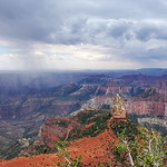 Mount Hayden & storm - Grand Canyon North Rim