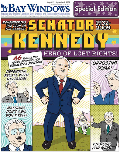 Bay Windows cover for special Kennedy memorial issue