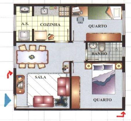 fotos e modelos de plantas de casas pequenas