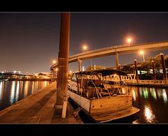 Under The Stars - HDR (David Gn Photography) Tags: night oregon marina portland stars bridges pdx hdr eastbankesplanade photomatix willamettebridge sigma1020mmf35exdchsm canoneosrebelt1i