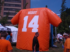 eric berry's giant inflatable jersey