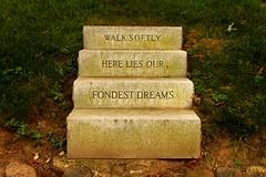 stairway (eva c. meszaros) Tags: life summer newyork cemetery stone brooklyn stairs death steps parkslope greenwood graves scuplture engraving dreams sunsetpark