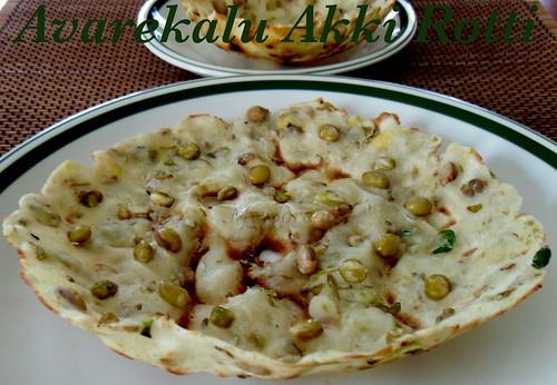 Image result for avarekalu akki rotti recipe