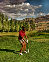 Par For The Course (dlco4) Tags: friends summer golf leavenworth cascademountains hiddentreasure washingoton citrit corelpaintshopprox2 arealgem screamofthephotographer