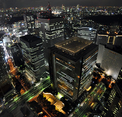 Electric City (caribb) Tags: city nightphotography urban japan skyline night buildings island lights nikon shinjuku asia skyscrapers cityhall citylights  nippon  lookingdown nuit sophisticated ville edo centreville cityatnight cosmopolitain    d90 tokyoatnight viewfromtower   toch thetokyometropolitangovernmentbuilding lejapon viewoftokyo