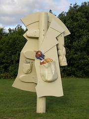 2007-12-23-Stoneleigh-2007-19-03-Feral Overcoat (russellstreet) Tags: newzealand sculpture auckland nzl manukau aucklandbotanicalgardens sculpturesinthegarden2007 stoneleighsculpturesinthegarden2007 feralovercoat warrenviscoe