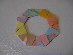 Tomoko Fuse Ring 7 (mostly origami) Tags: origami ring modular tomokofuse exactpastels