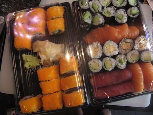 My sushi takeaway boxes